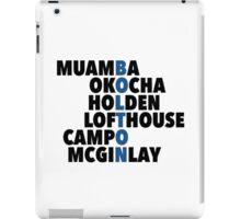 LEGENDS: Bolton spelt with player names iPad Case/Skin