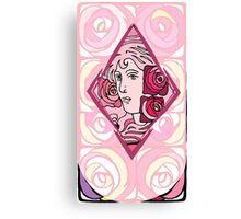 Art nouveau Rose Woman Canvas Print