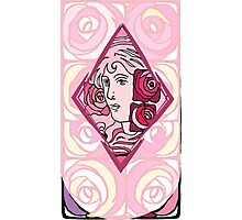 Art nouveau Rose Woman Photographic Print