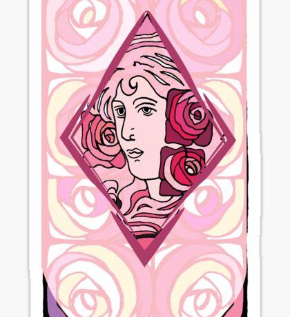 Art nouveau Rose Woman Sticker