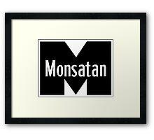 Monsatan (White) Framed Print