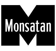 Monsatan (White) Photographic Print