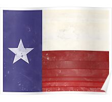 Distressed Texas Flag Poster