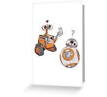 2 Robots & 1 Lighter Greeting Card