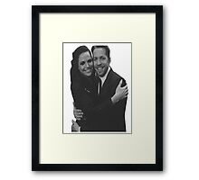 Once Upon A Time - Regina Mills and Robin Hood Framed Print
