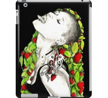 The queen of strawberries iPad Case/Skin