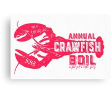Annual Crawfish Boil Poster Canvas Print