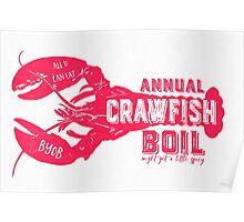 Annual Crawfish Boil Poster Poster