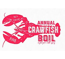 Annual Crawfish Boil Poster Photographic Print