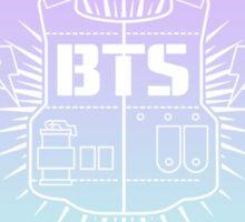BTS mintxlilac heart logo Sticker