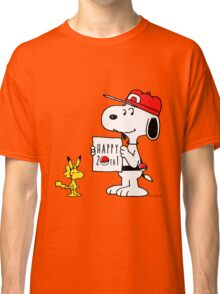 Pokemon 20th featuring Snoopy and Woodstock Classic T-Shirt
