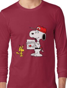 Pokemon 20th featuring Snoopy and Woodstock Long Sleeve T-Shirt