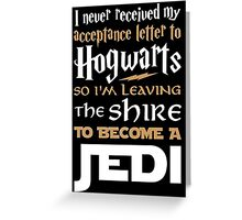 Harry Potter Star Wars Greeting Card