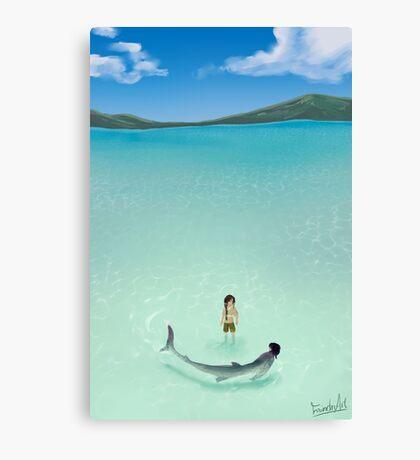 Swimming 2 Canvas Print