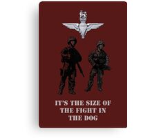 The size of the fight in the dog by #fftw Canvas Print