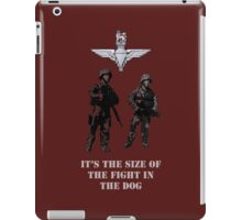 The size of the fight in the dog by #fftw iPad Case/Skin