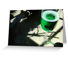 """""""And it's green, green, green, all the happy night and day"""" Greeting Card"""