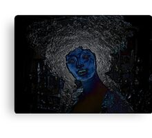 blue woman Canvas Print