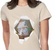 Leprechaun reader Womens Fitted T-Shirt