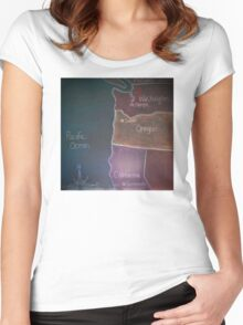 Pacific States - Detail Women's Fitted Scoop T-Shirt