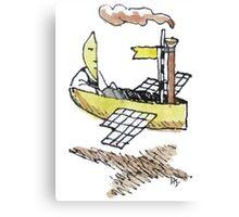 Moonman's Airship Canvas Print