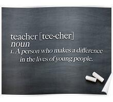 Teacher - Definition Poster