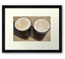 """""""Beer's so frothy, smooth and cold-- It's paradise--pure liquid gold."""" Framed Print"""