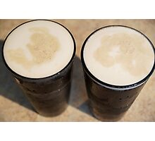 """""""Beer's so frothy, smooth and cold-- It's paradise--pure liquid gold."""" Photographic Print"""