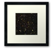 Ultra Deep Space Picture of Universe's Earliest Galaxies Framed Print