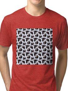 Toothless pattern Tri-blend T-Shirt