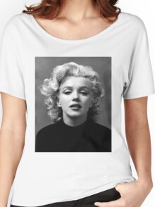 Vintage: Marilyn Monroe (Black&White) Women's Relaxed Fit T-Shirt