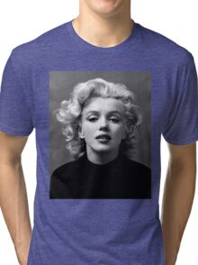 Vintage: Marilyn Monroe (Black&White) Tri-blend T-Shirt