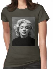 Vintage: Marilyn Monroe (Black&White) Womens Fitted T-Shirt