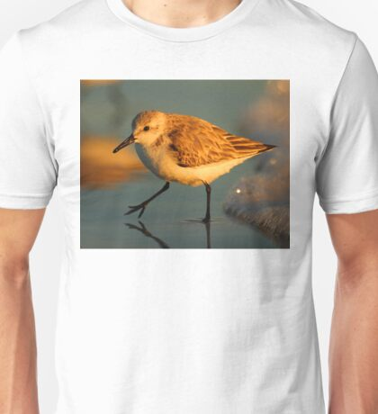 Sandpiper Walking at Sunset Unisex T-Shirt