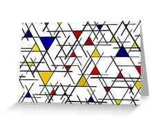 Mondrian Triangles Greeting Card