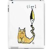 Cat Juggeling with Fish iPad Case/Skin