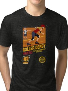 8-bit Roller Derby Tri-blend T-Shirt