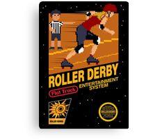 8-bit Roller Derby Canvas Print