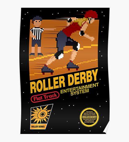 8-bit Roller Derby Poster