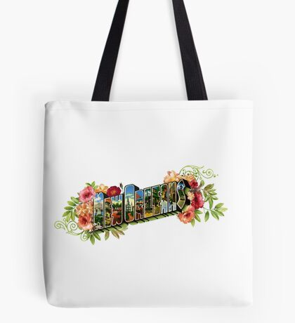 "Old Fashioned Postcard Style ""New Orleans"" Logo Tote Bag"