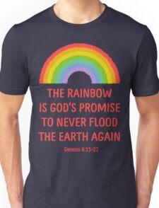 Rainbow God's Promise Genesis 6:13-22 T Shirt Unisex T-Shirt