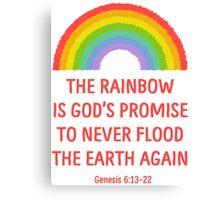 Rainbow God's Promise Genesis 6:13-22 T Shirt Canvas Print