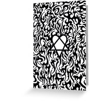 Heartagram Greeting Card