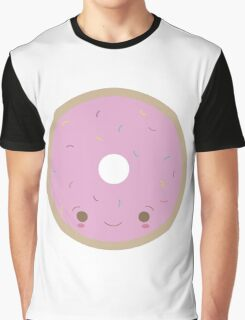 Kawaii Donut with Frosting and Sprinkles Graphic T-Shirt