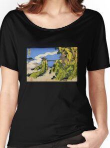 'Temple Bridge' by Katsushika Hokusai (Reproduction) Women's Relaxed Fit T-Shirt