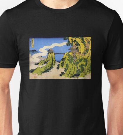 'Temple Bridge' by Katsushika Hokusai (Reproduction) Unisex T-Shirt