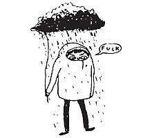 ugh. rain. Photographic Print