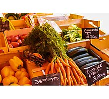 French Vegetables Photographic Print