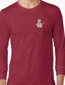 rick and morty pocket v2 Long Sleeve T-Shirt