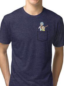 rick and morty pocket v2 Tri-blend T-Shirt
